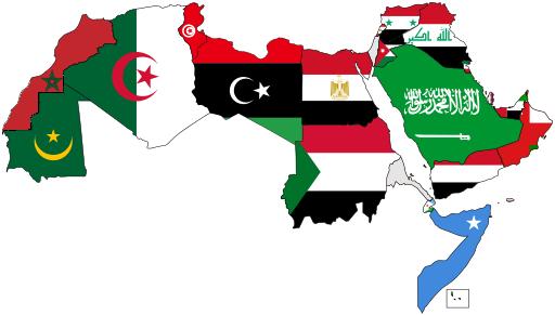 خريطة العالم العربي